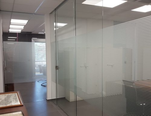 Separatori vetro uffici